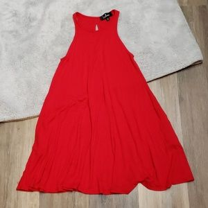 Lulus Red Swing Dress with Pockets